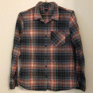 Patagonia organic cotton plaid flannel shirt